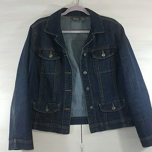 Denim Jacket Chico's Additions size 1